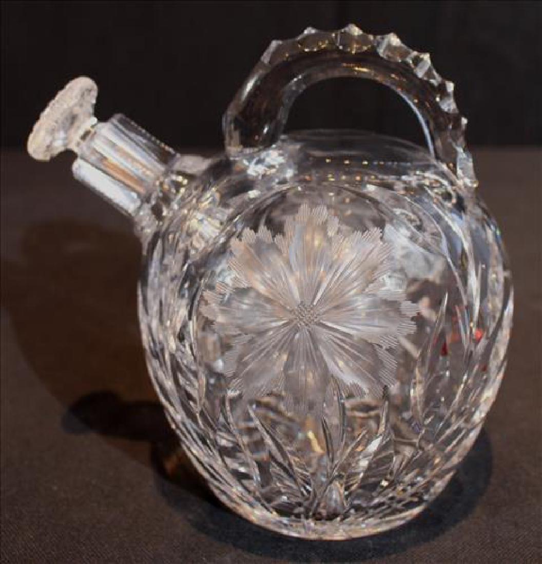 Cut glass crystal liquor jug or decanter with cut - 3