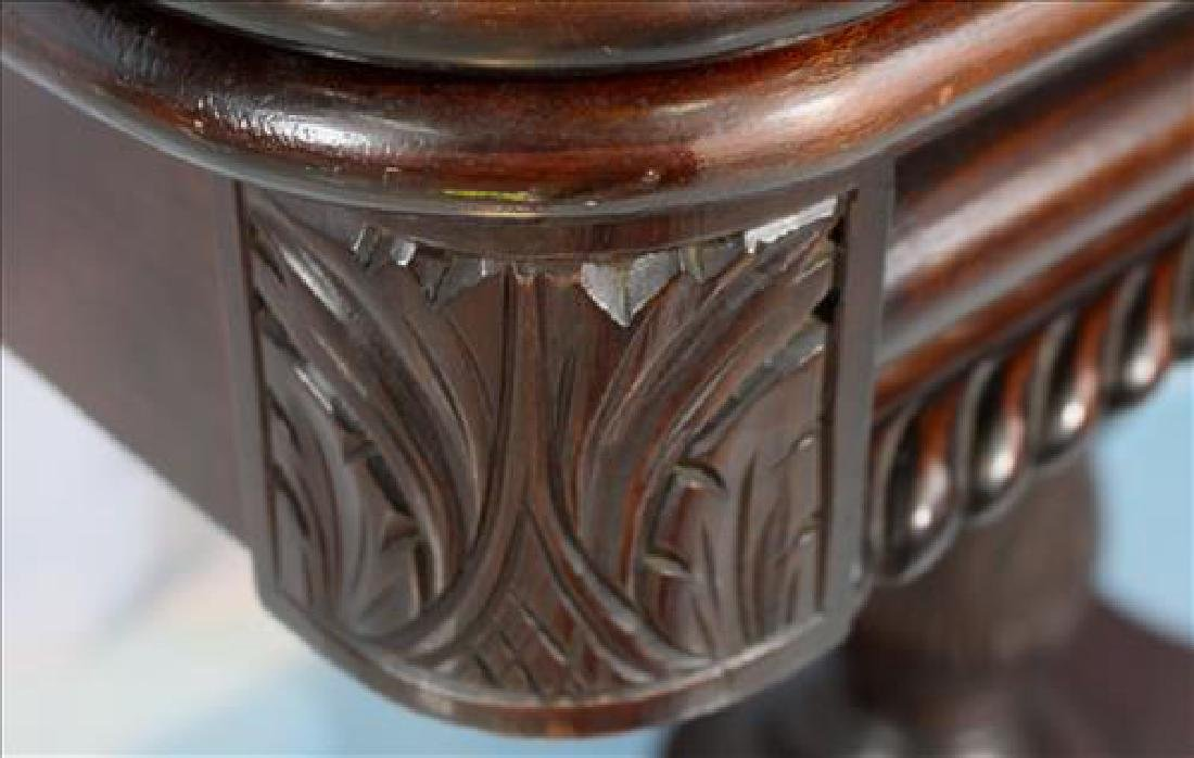 Empire mahogany game table with acanthus base - 4