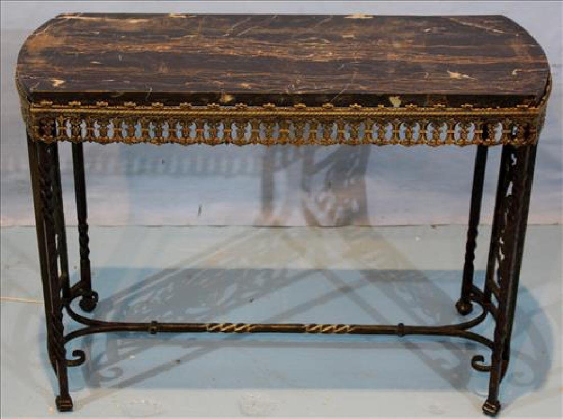 Brass and Egyptian marble side table