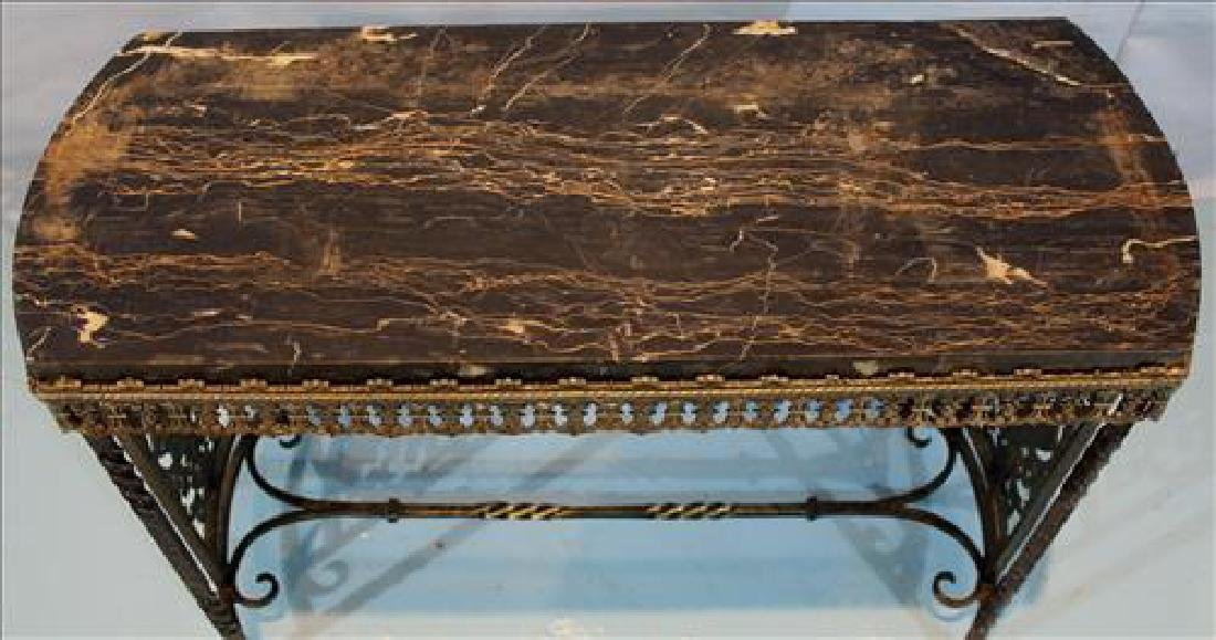 Brass and Egyptian marble side table - 3