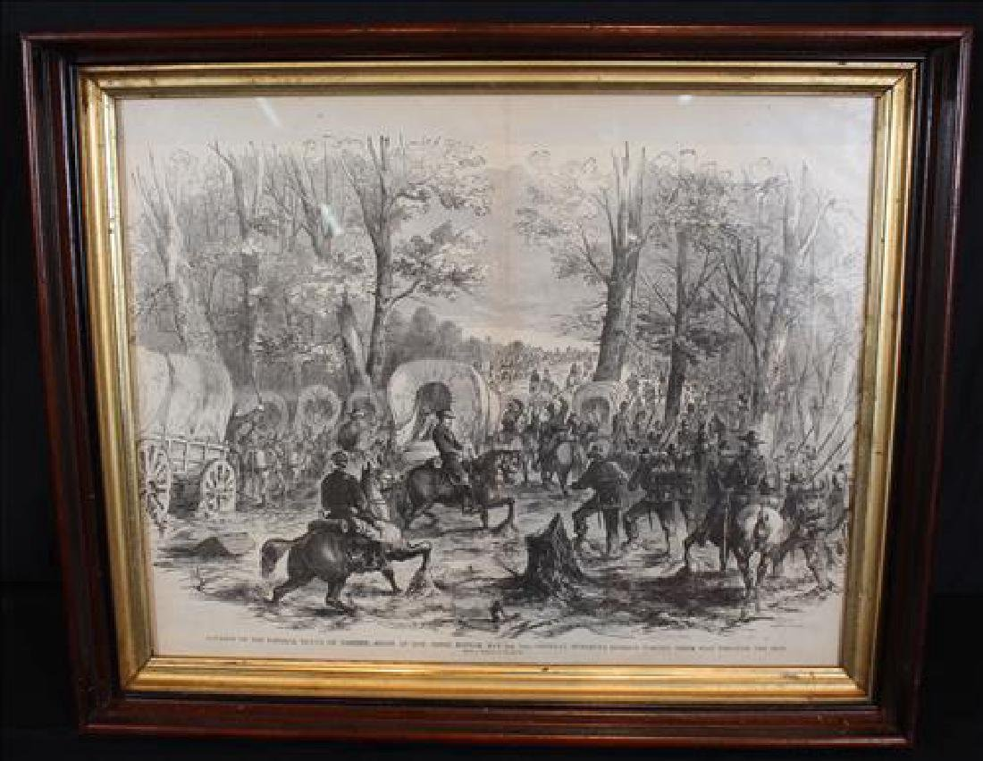 Antique print of Civil War battle at Corinth, MS