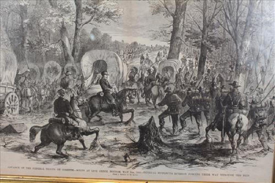 Antique print of Civil War battle at Corinth, MS - 2