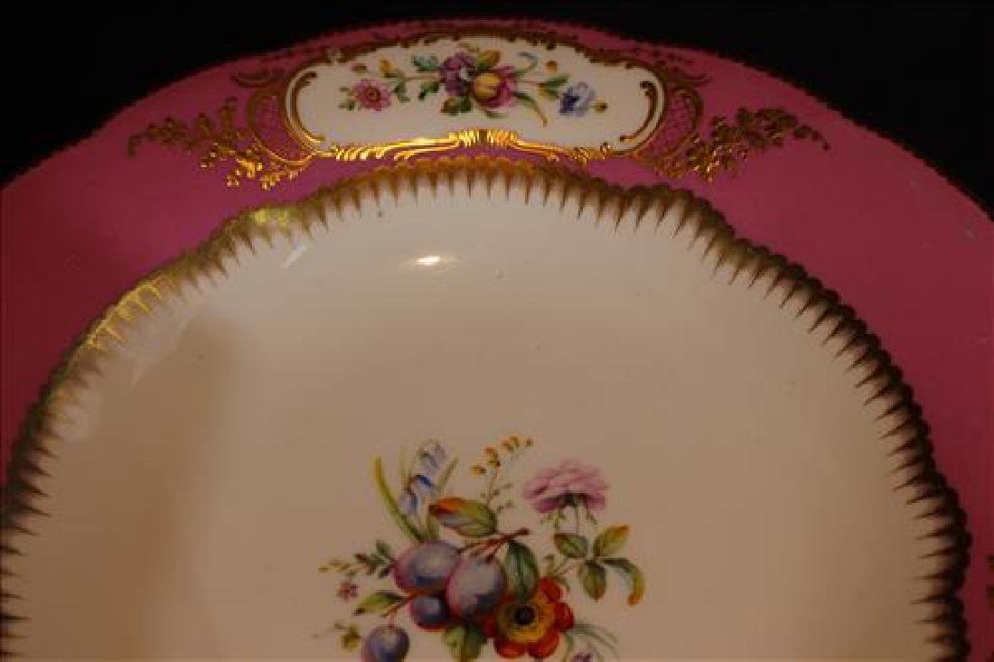 Old Paris madam de Pompadour pink compote, 6 in. T, 10 - 3