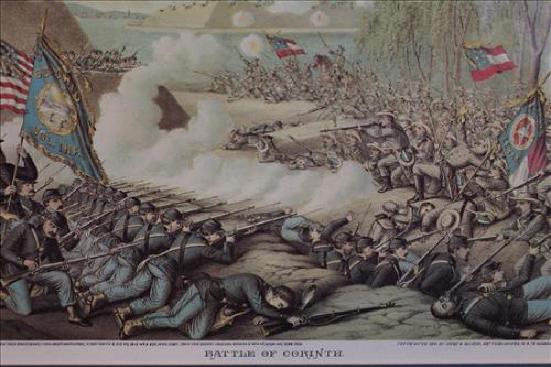 Cruz and Allison print of Civil War, Battle of Corinth, - 2