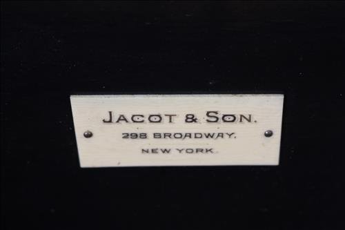 Rosewood inlaid music box by Jacot and Son - 7