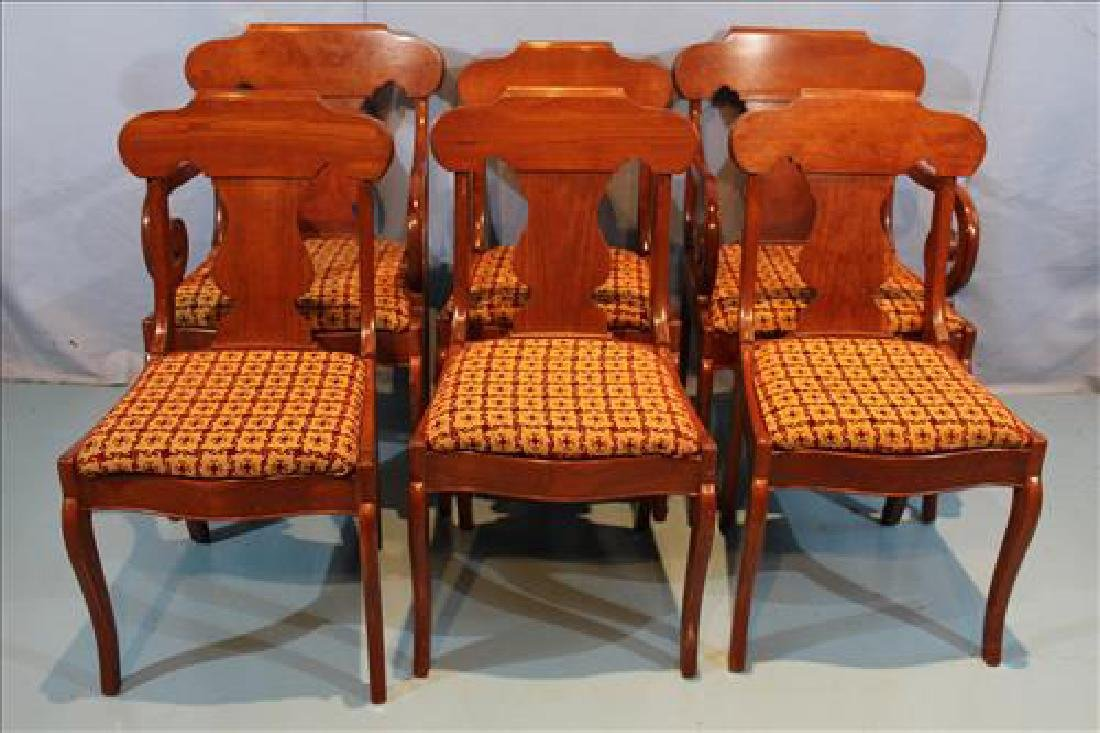 Set of 6 Gondola Empire style dining chairs