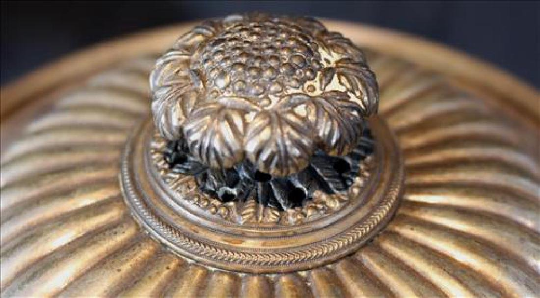 Silver over copper coffee urn, 15 in T. - 3