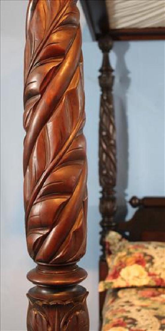Fine acanthus carved full tester plantation bed - 2
