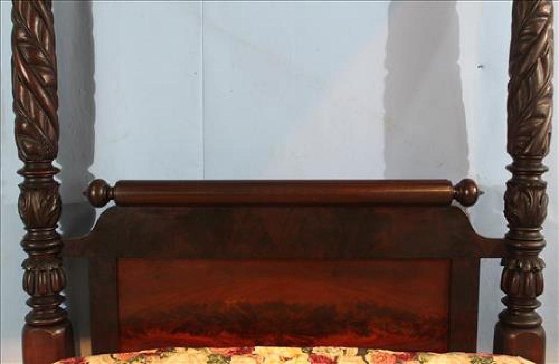 Fine acanthus carved full tester plantation bed - 3