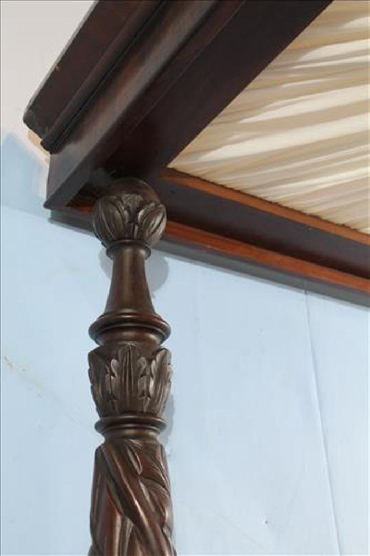 Fine acanthus carved full tester plantation bed - 4