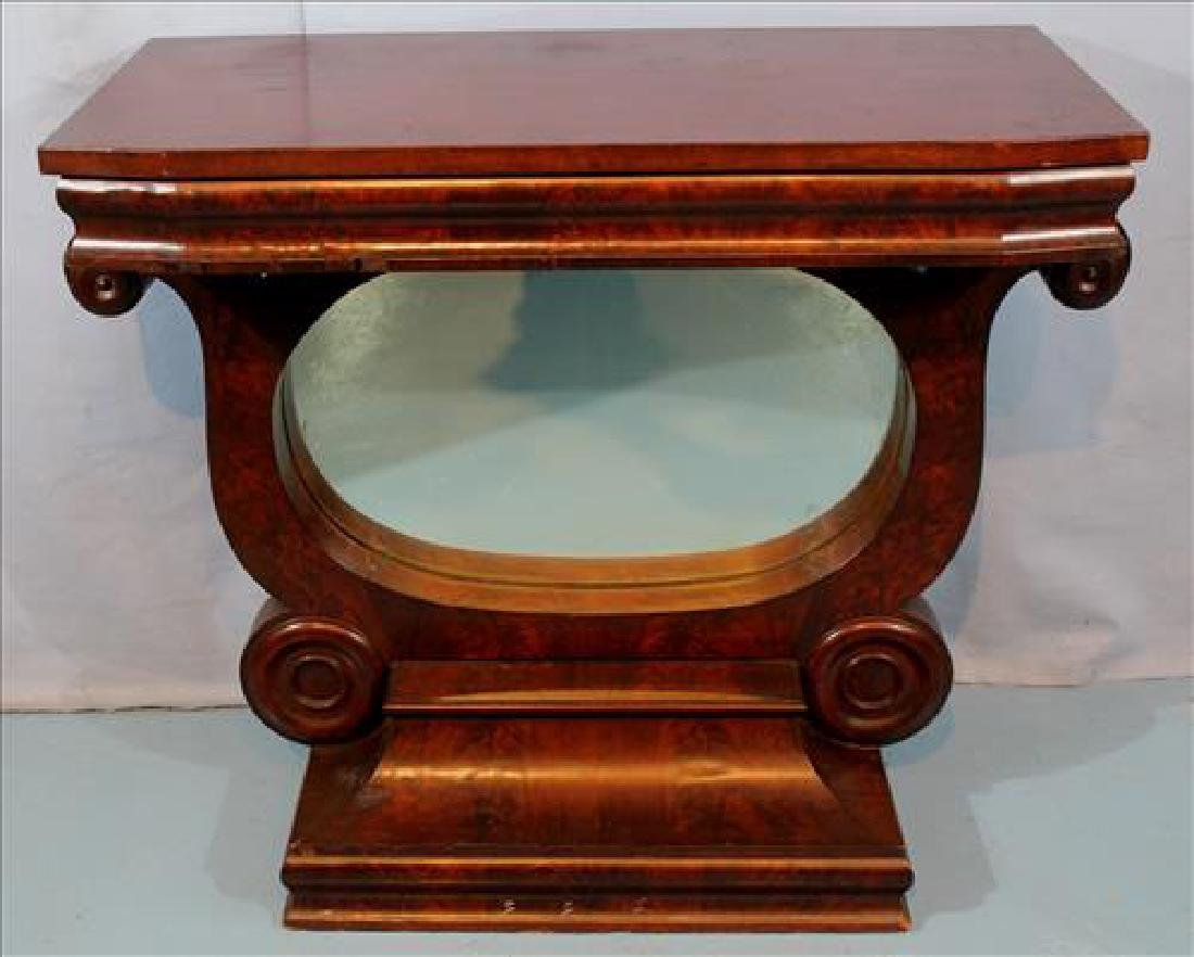 Mahogany Empire pier table with yolk base