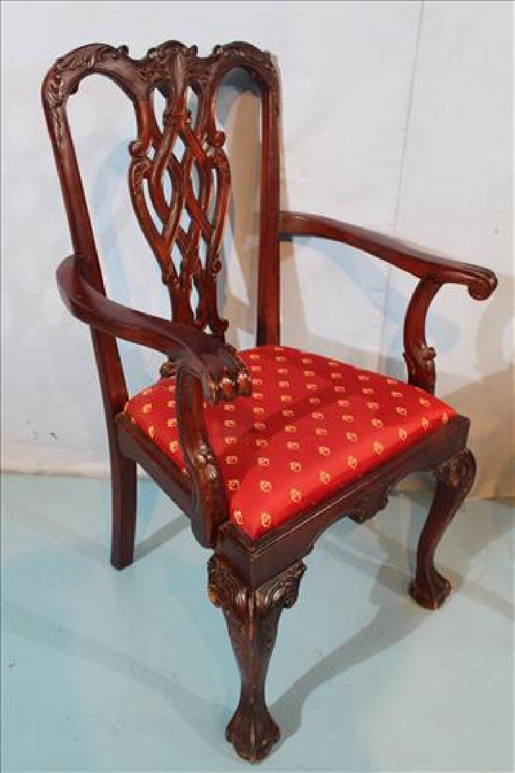 Set of 8 Chippendale dining chairs - 4