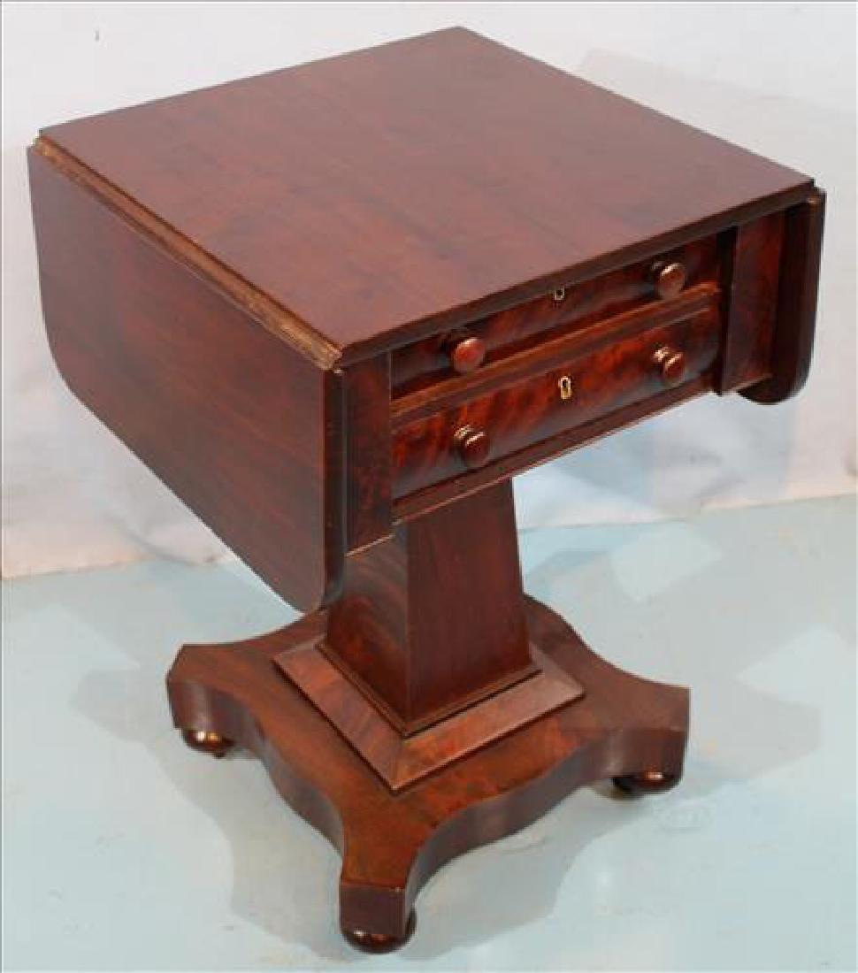 Mahogany Empire drop leaf work table - 2