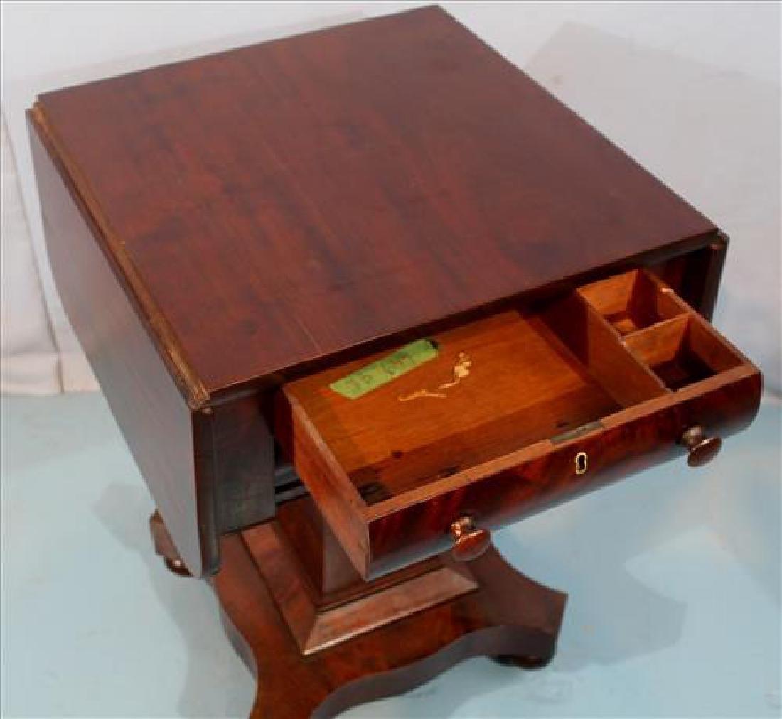 Mahogany Empire drop leaf work table - 3