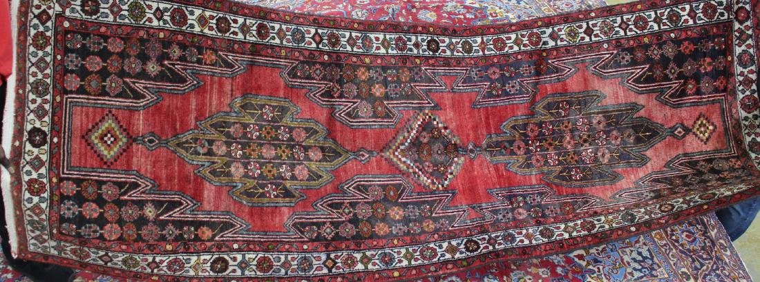 Semi antique Persian Hamadan rug, 3.6 x 9.10