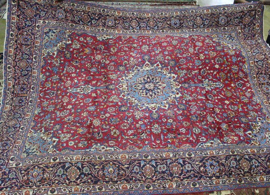 Semi antiqjue Persian Mashad, 9.5 x 12.5