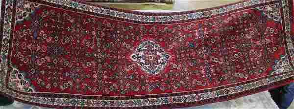 Semi antique persian Malayer rug, 3.6 x 9.10