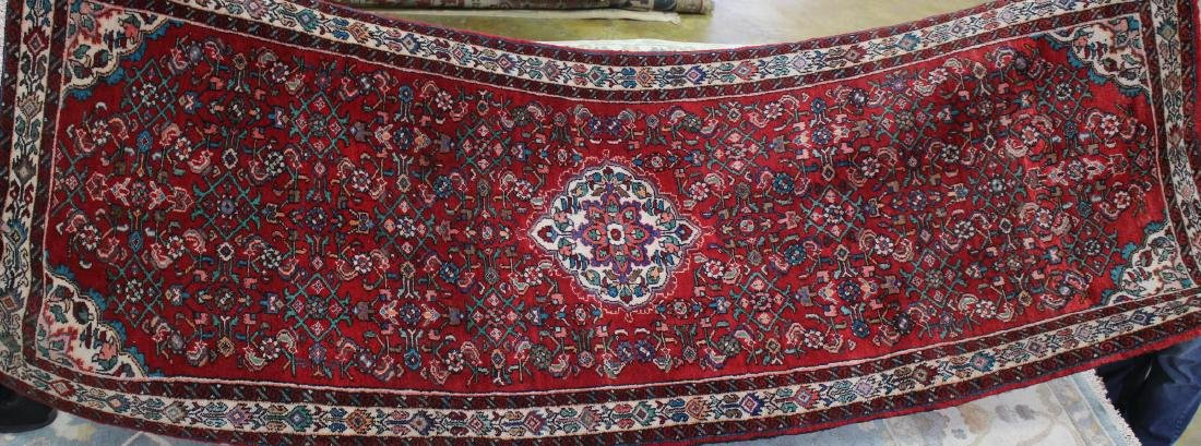 Semi antique persian Malayer rug, 3.6 x 9.10
