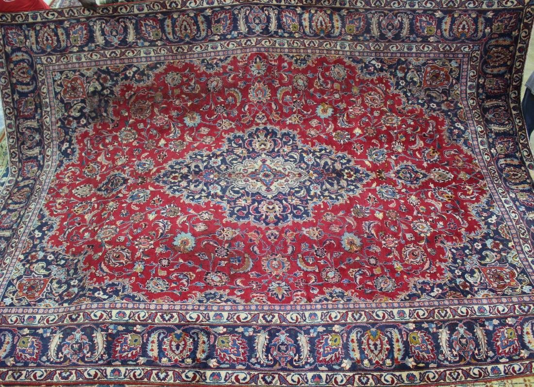 Semi antique  Persian Mashad rug, 9.10 x 13.2