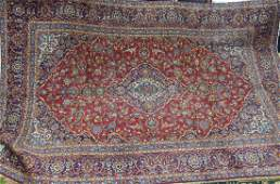 Semi antique Persian Kashan rug 89 x 119