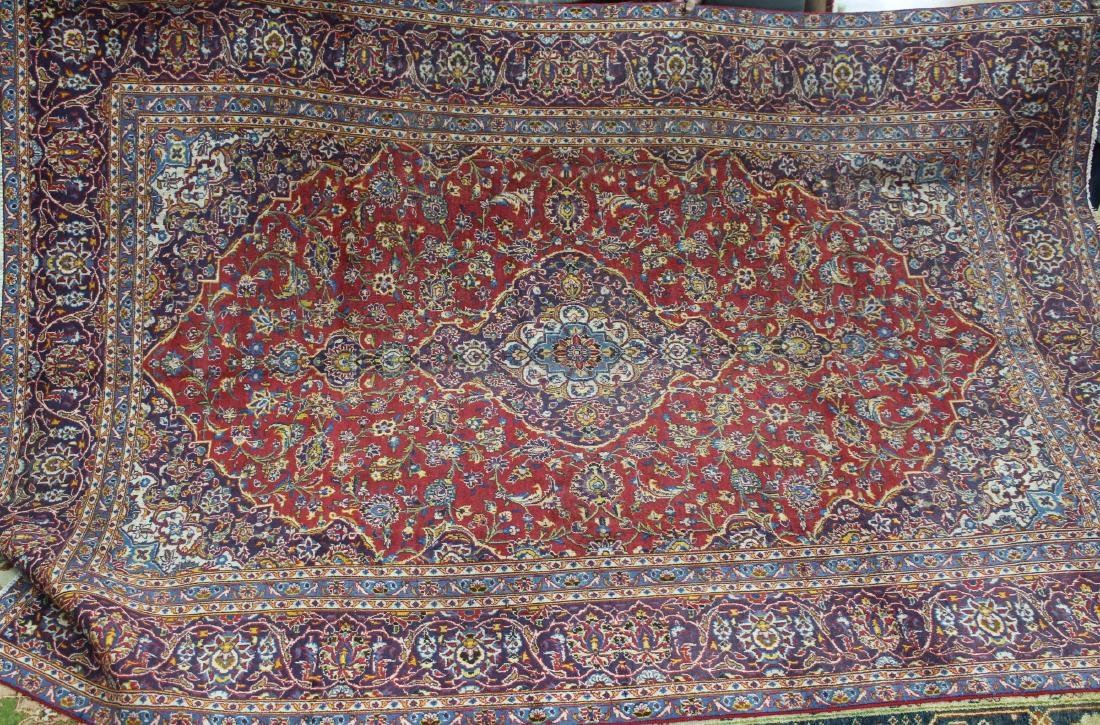 Semi antique Persian Kashan rug, 8.9 x 11.9