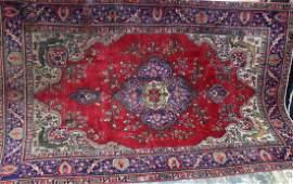 Semi antique Persian Tabriz rug 68 x 910