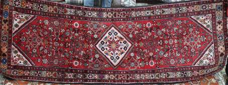 Semi antique Persian Malayer rug, 3.4 x 9.2