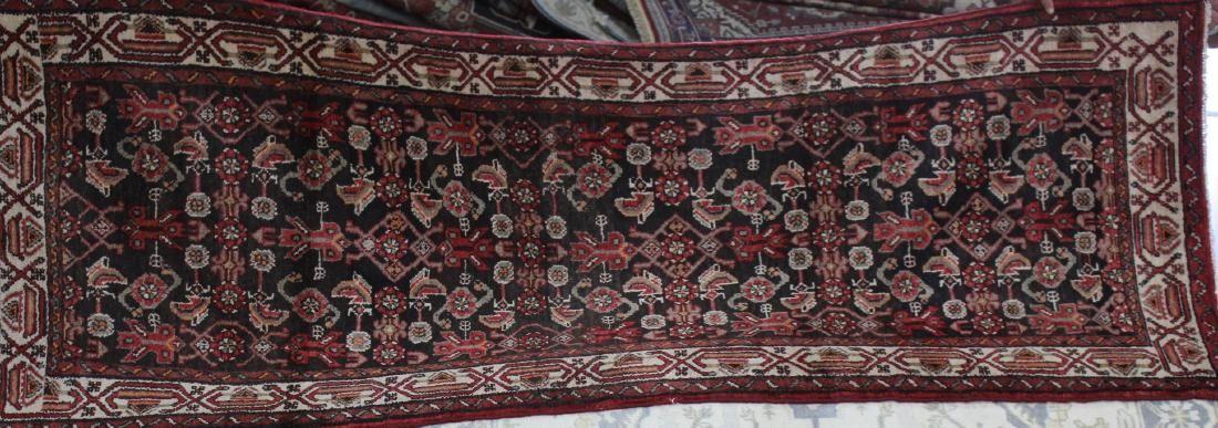 Semi antique Persian Malayer rug, 3.6 x 9.5