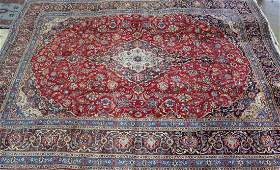 Semi antique Persian Kashan rug 10 x 13
