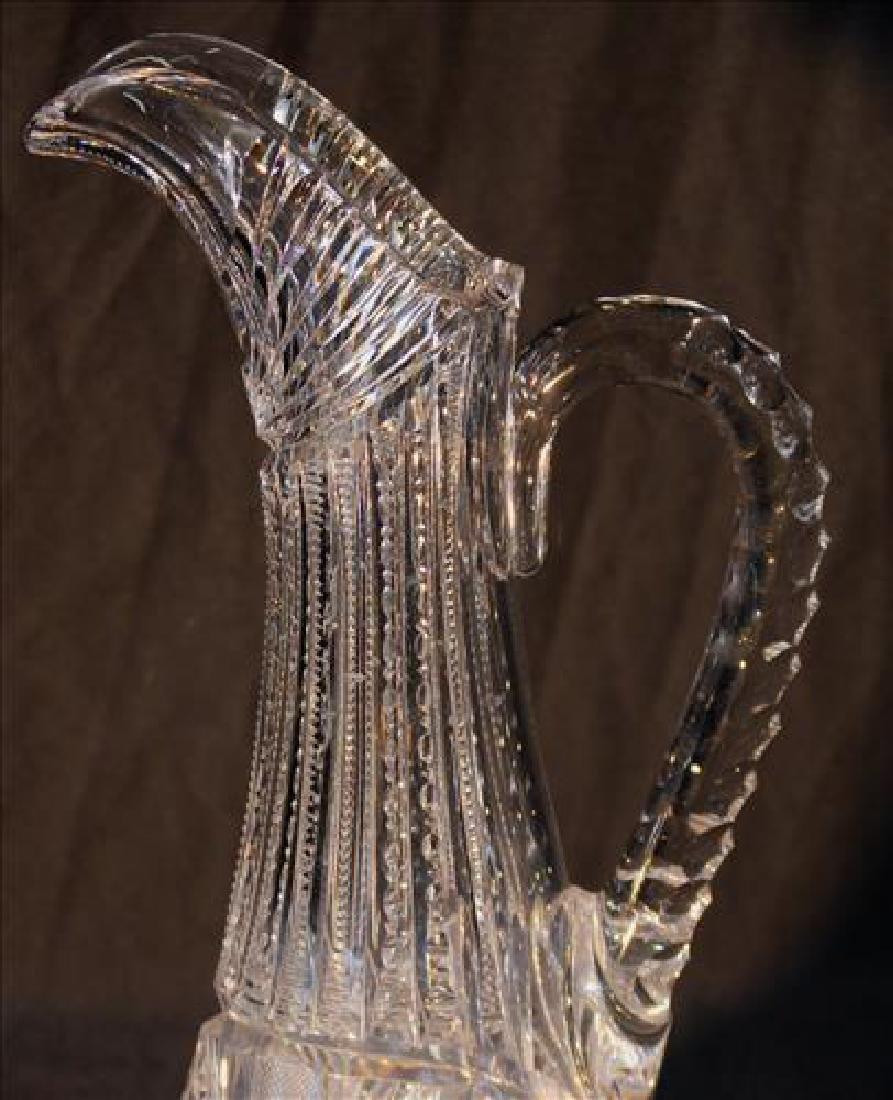 Brilliant cut glass pitcher, 13 in. T. - 2