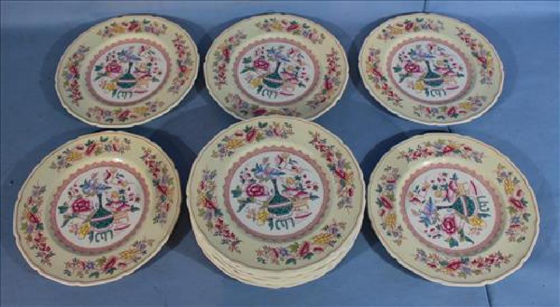 Set of 12 Royal Doulton plates, 10 in. Dia with floral