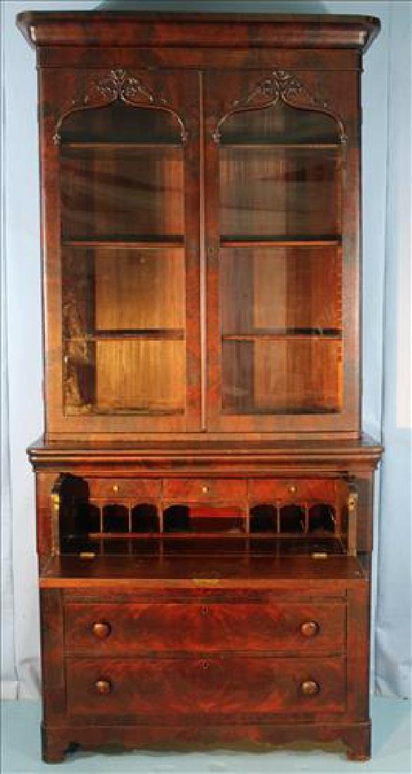 Mahogany Victorian 2 door secretary bookcase