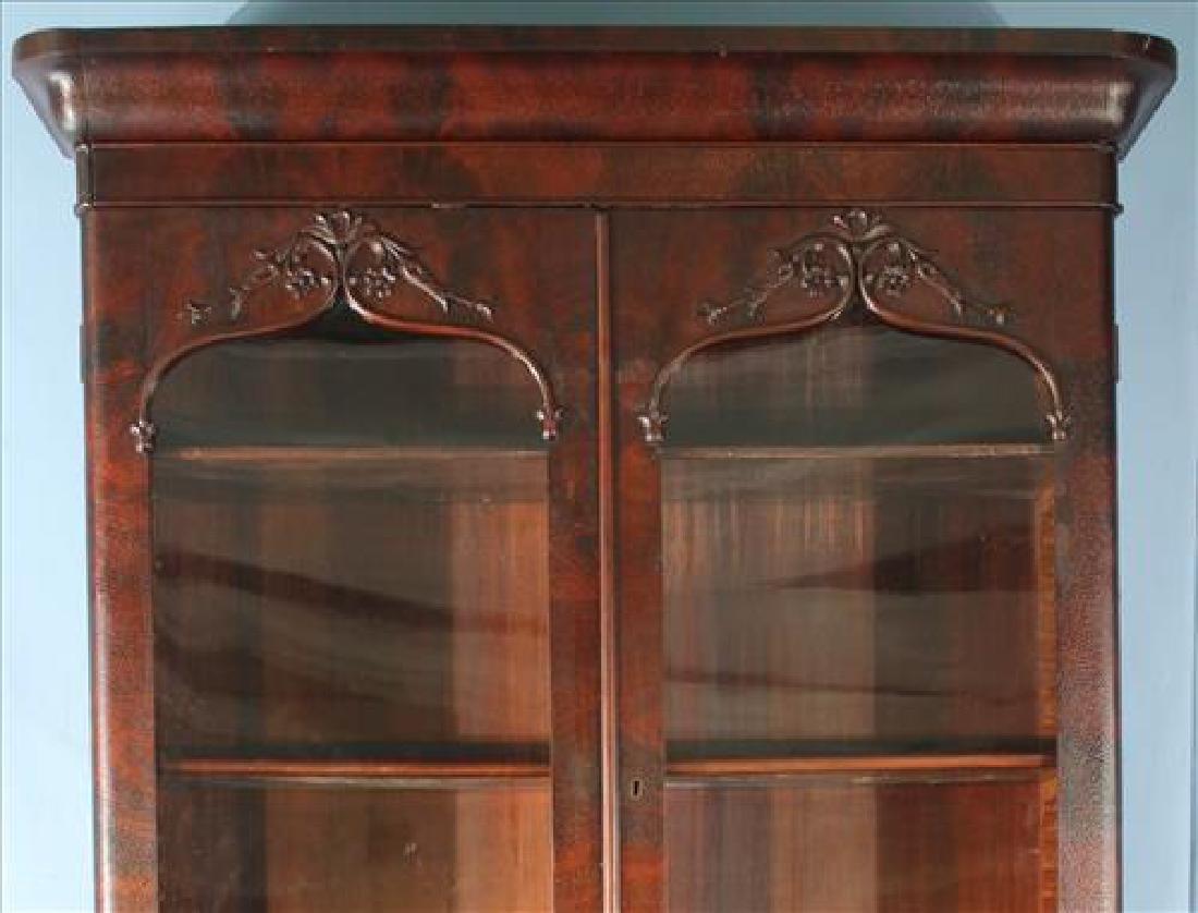 Mahogany Victorian 2 door secretary bookcase - 2