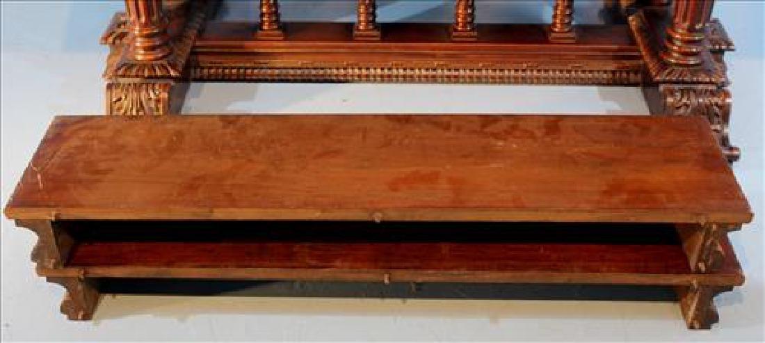 Mahogany dining table w 2 leaves by Berkey & Gay, ca. - 6