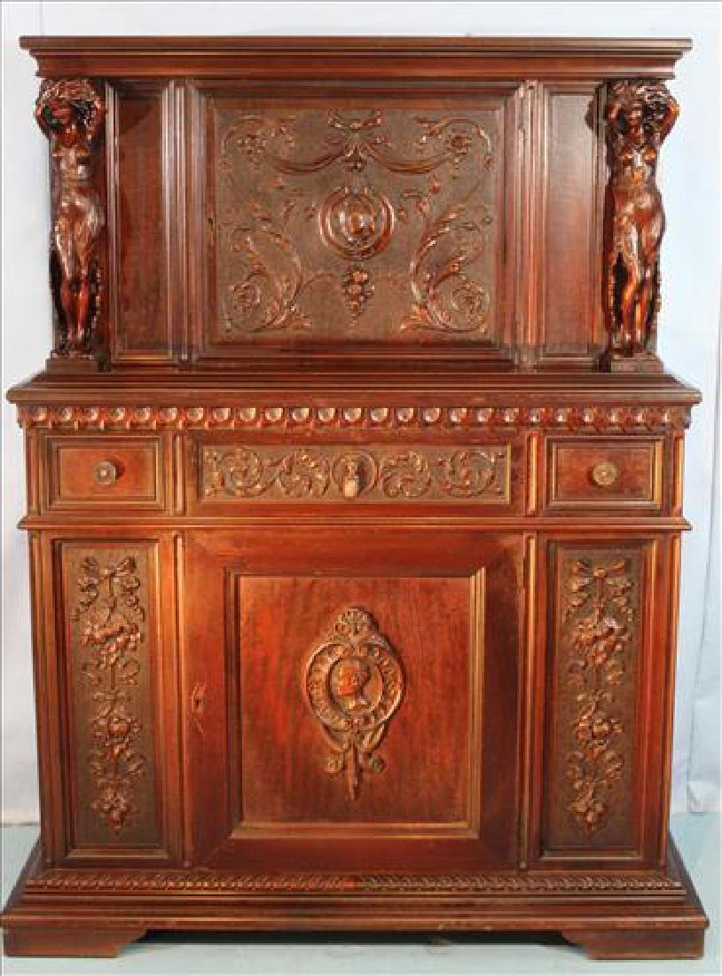 Mahogany blind door china cabinet, Berkey & Gay, ca.