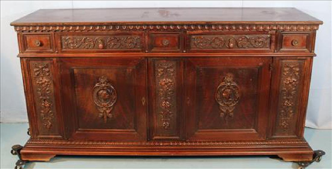 Long mahogany sideboard by Berkey & Gay, ca. 1890
