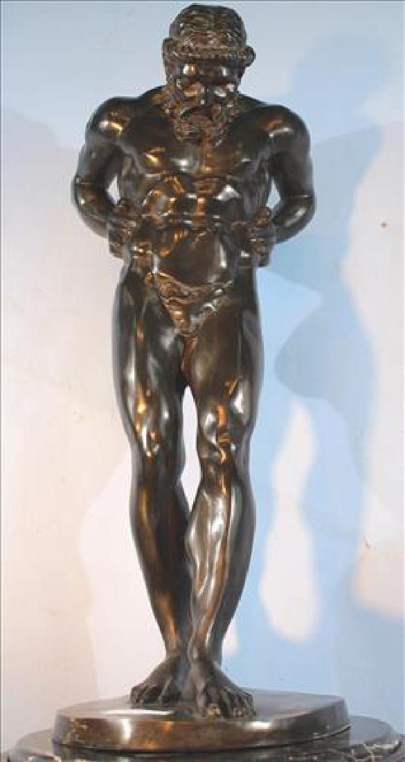 Large bronze figure ofAtlas # NPV4237, 34 in . T.
