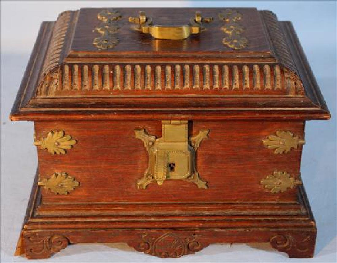 19th Century brass mounted oak chest