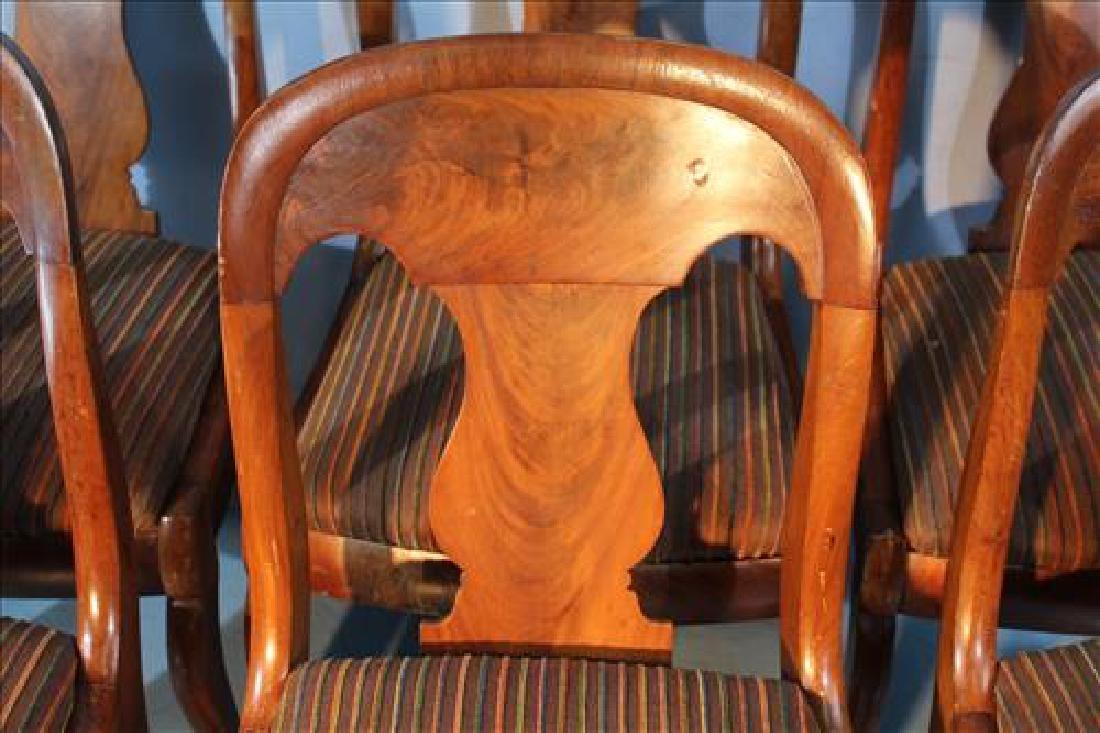 Set of 6 mahogany Empire sabre leg dining chairs - 2