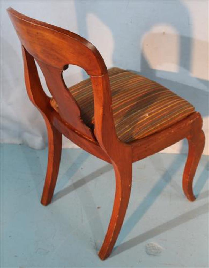 Set of 6 mahogany Empire sabre leg dining chairs - 3