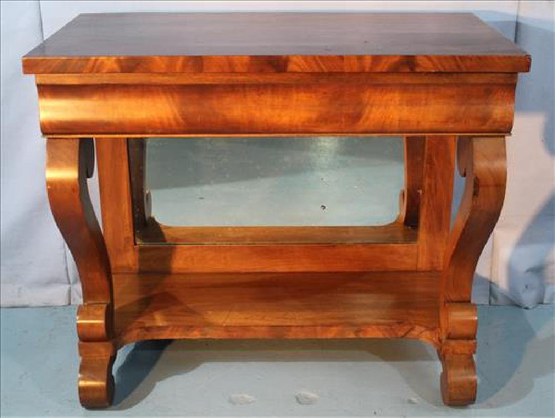 Mahogany Empire pier table with scroll front