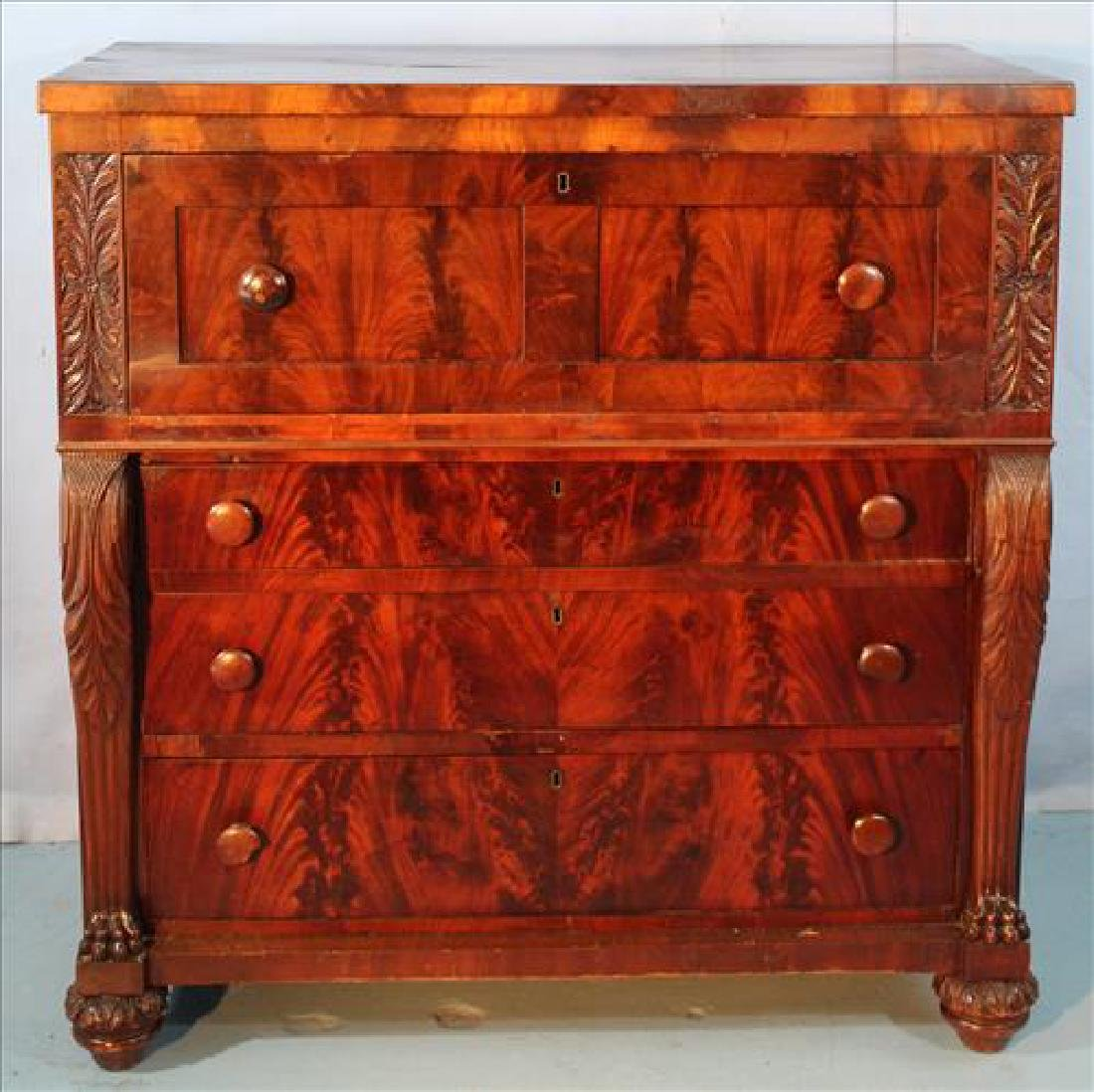 Mahogany Empire butlers secretary desk