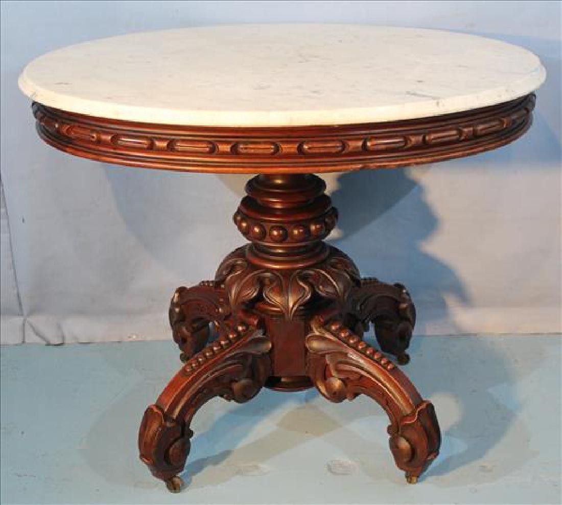 Clean walnut T, Brooks table, all original