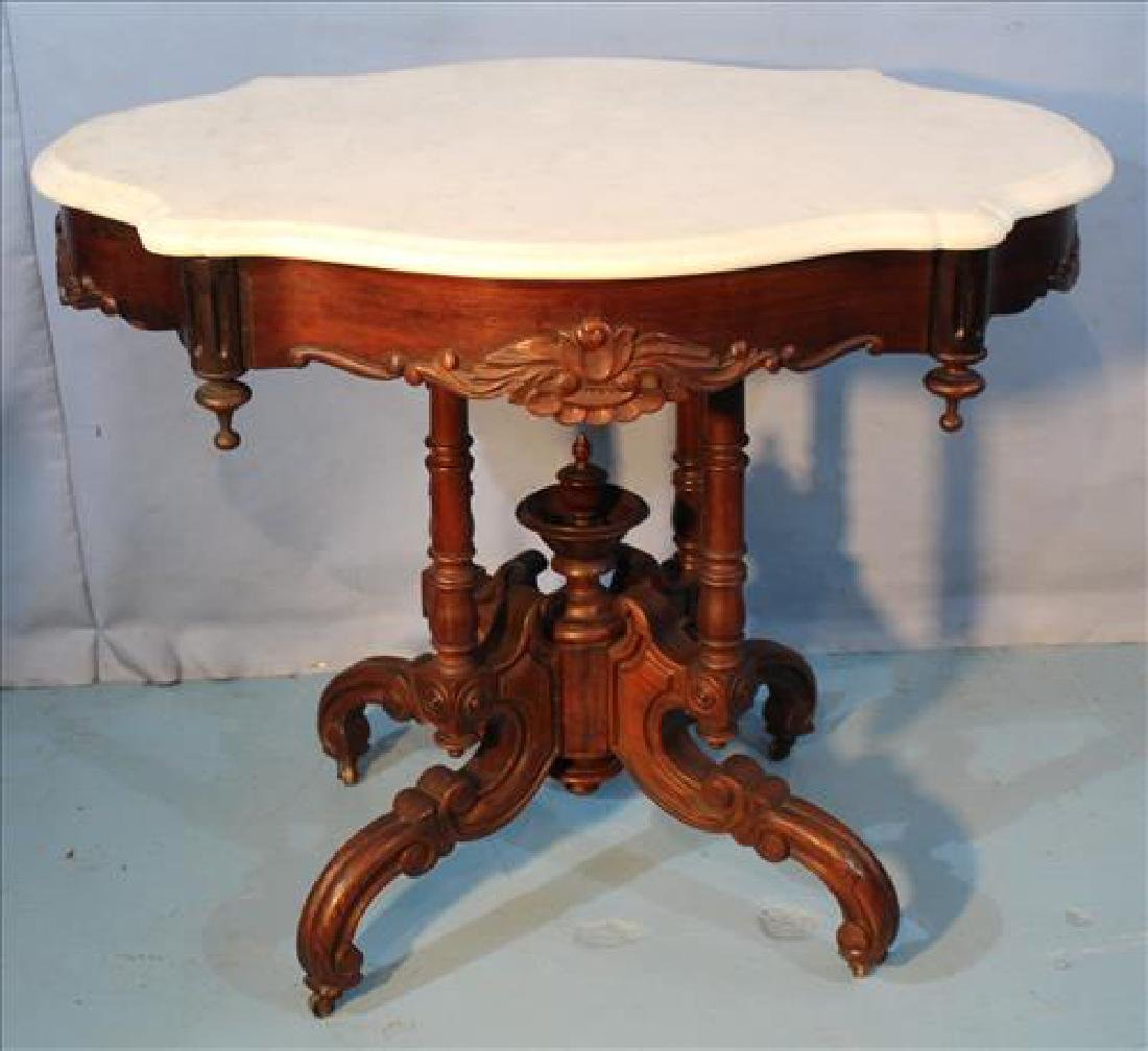 Walnut Victorian center table in good original