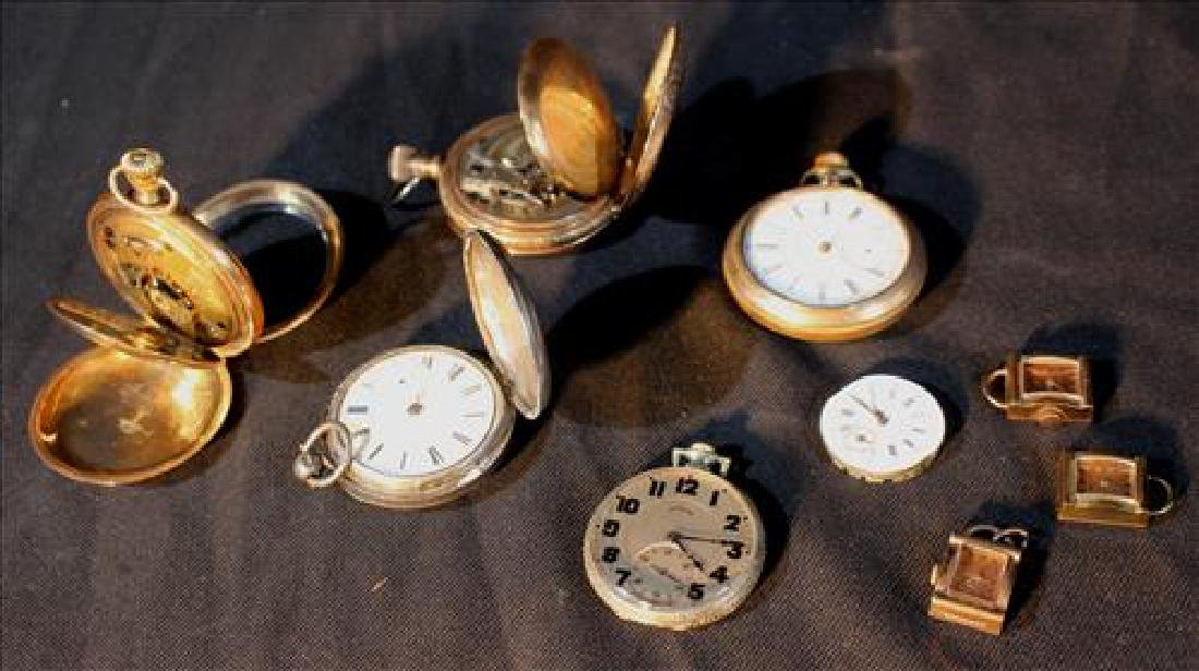 Assorted lot of antique pocket watches in need of