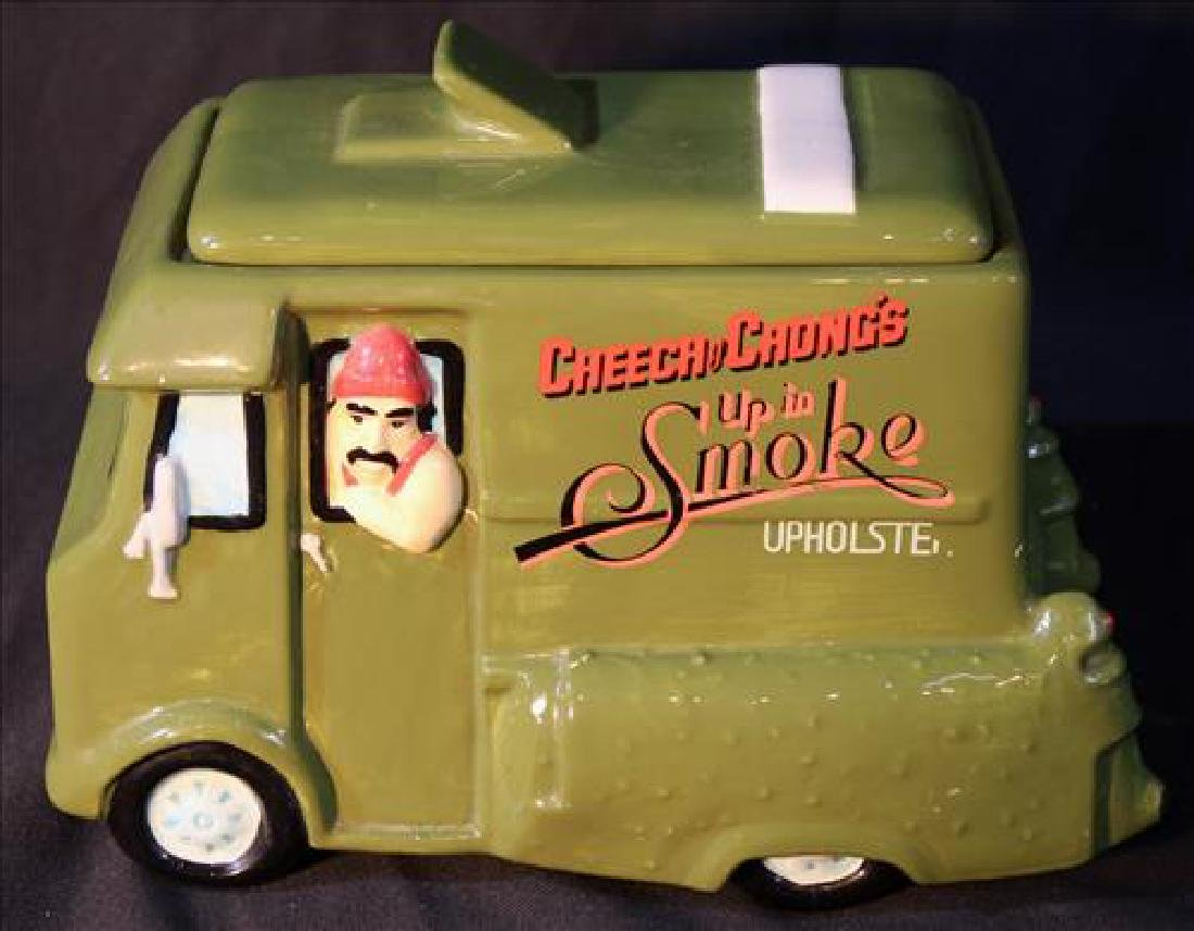 Cheech and Chong's cookie jar, 7 in. T, 10 in. W.