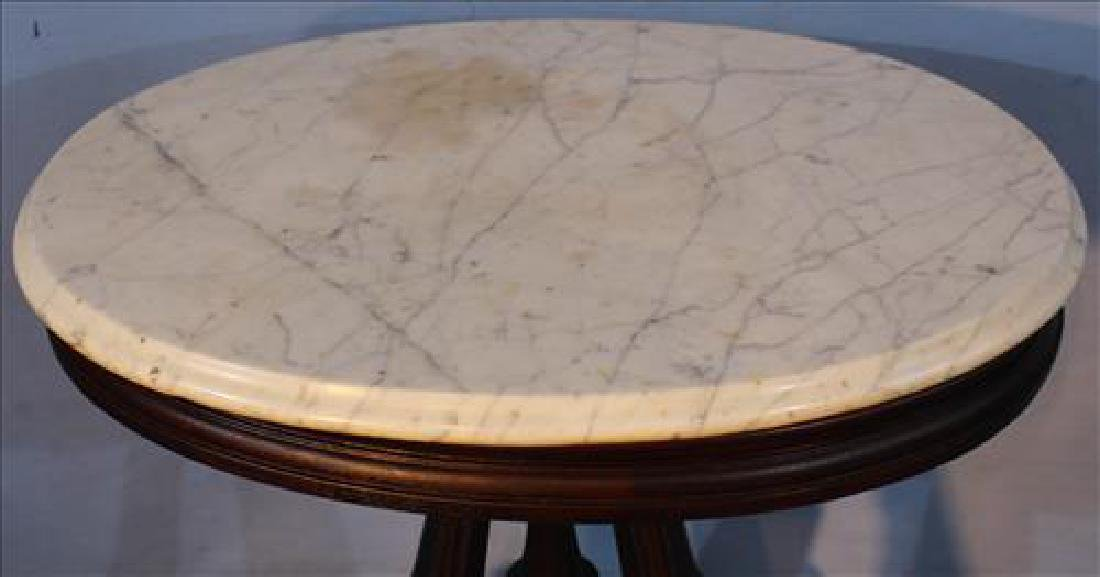 Small Victorian walnut oval table, all original - 2