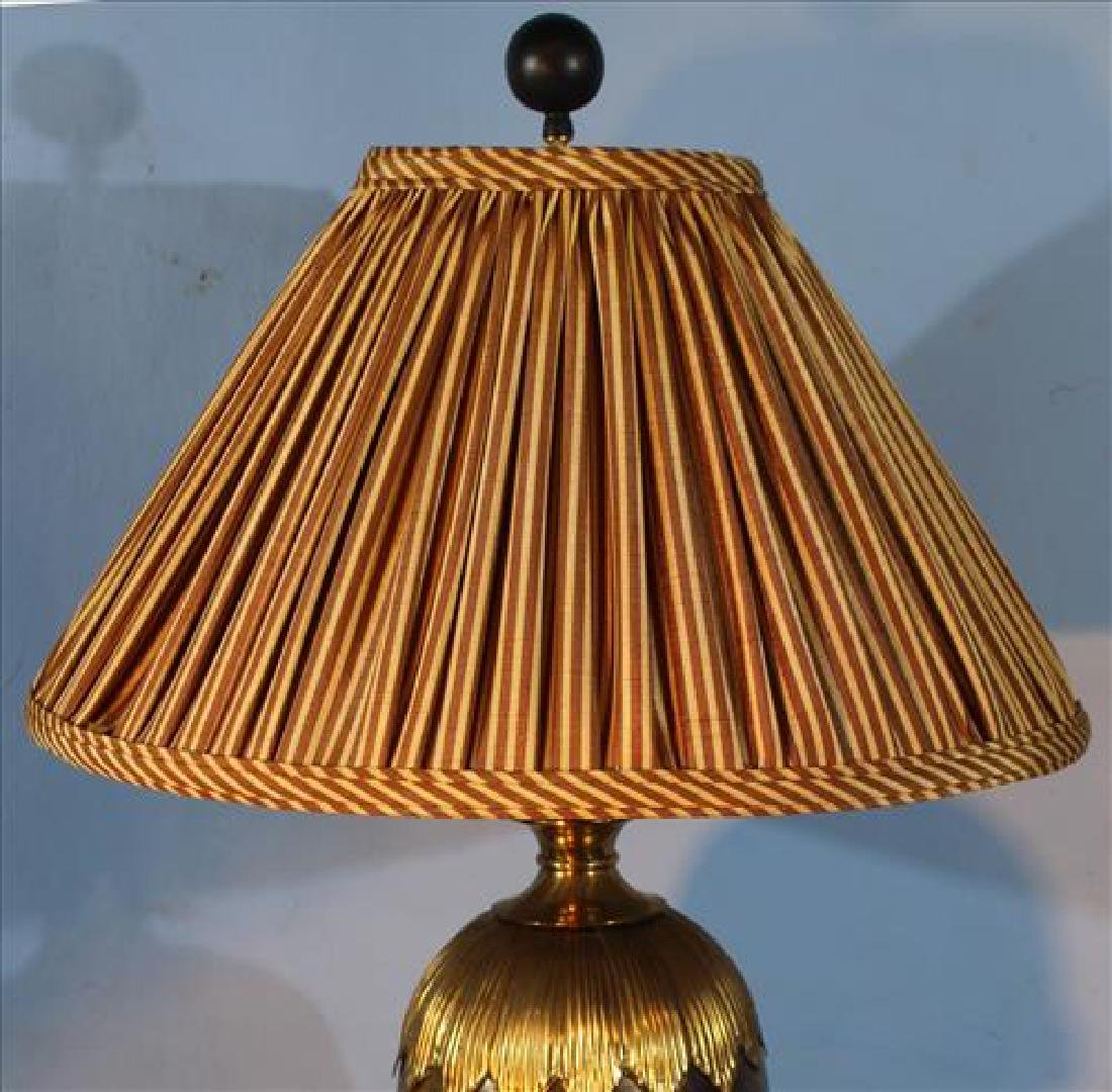 Quality brass and faux marble lamp, 28 in. T. - 2