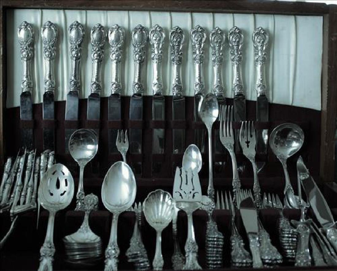 Lg set Francis First sterling flatware by Reed & Barton - 2