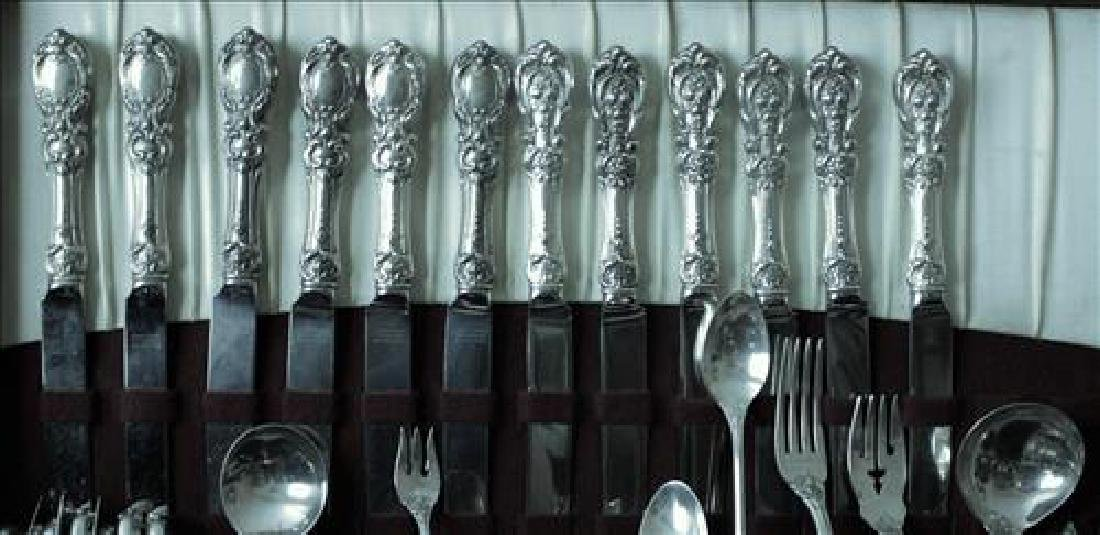 Lg set Francis First sterling flatware by Reed & Barton - 3